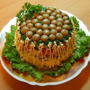 Салатики с грибами